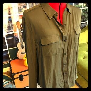 NWT Army boyfriend blouse